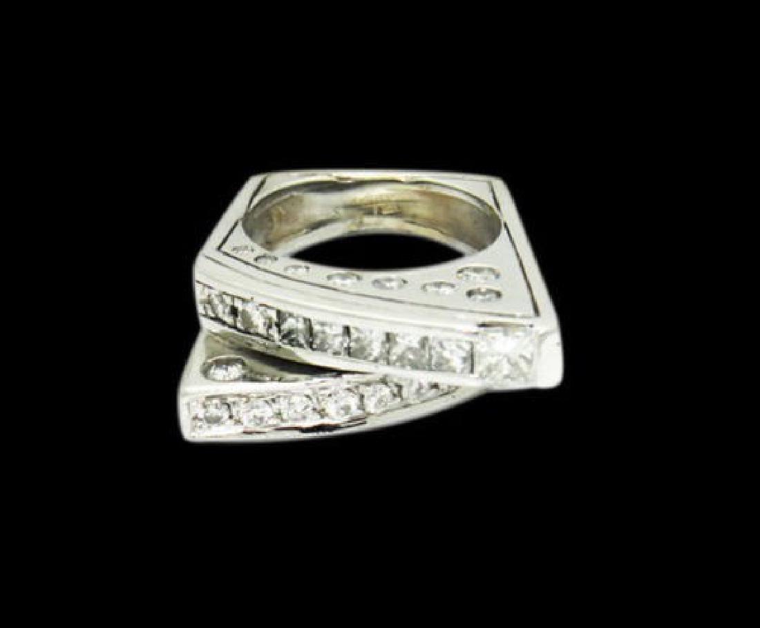 14k White Gold 2.00 Carat TCW SI1-2 G-H Diamond