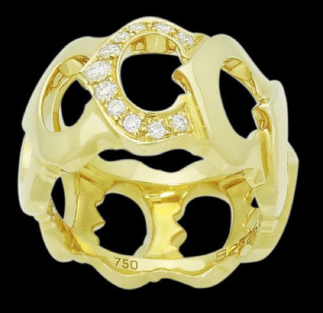 Cartier 18k Yellow Gold C De Diamond 0.30 Carats TCW