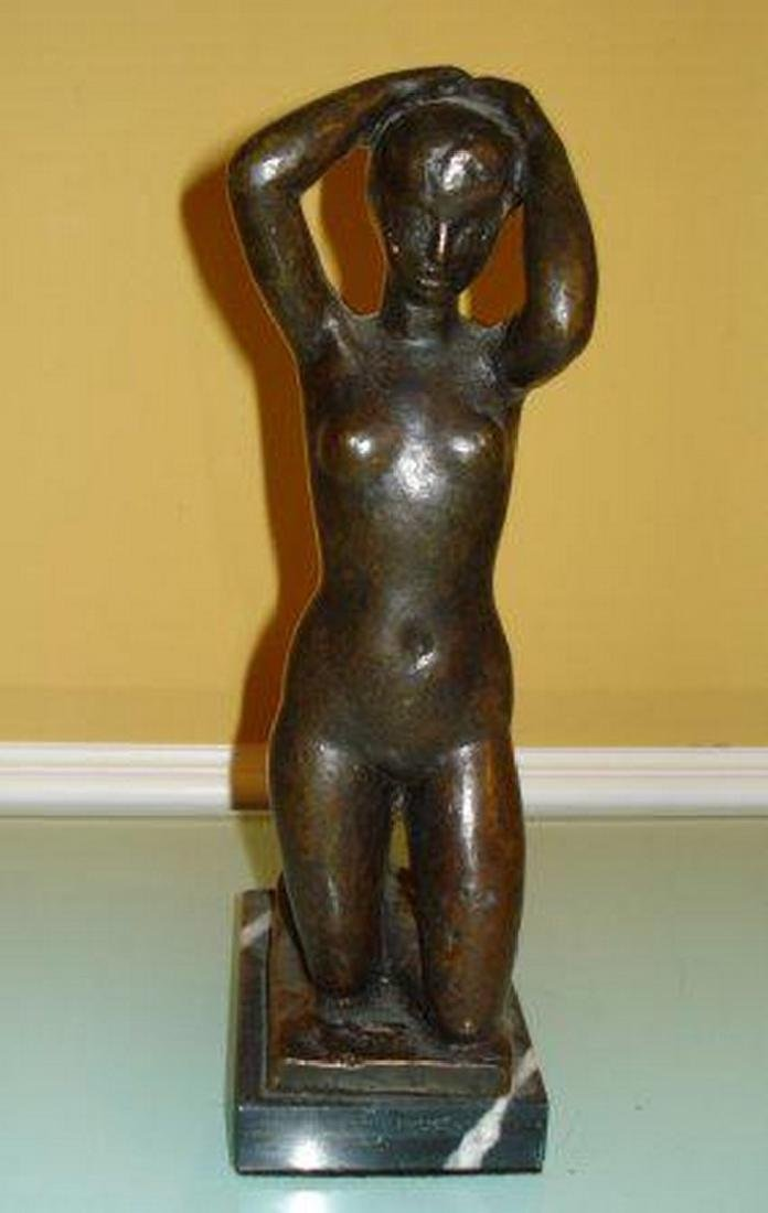 ARISTIDE MAILLOL French BRONZE SCULPTURE OF NUDE