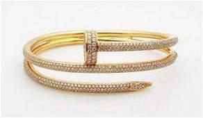 Cartier Juste En Clou 18K 3.61 tcw Diamonds Bracelet