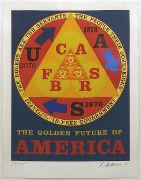 ROBERT INDIANA Title: GOLDEN FUTURE OF AMERICA