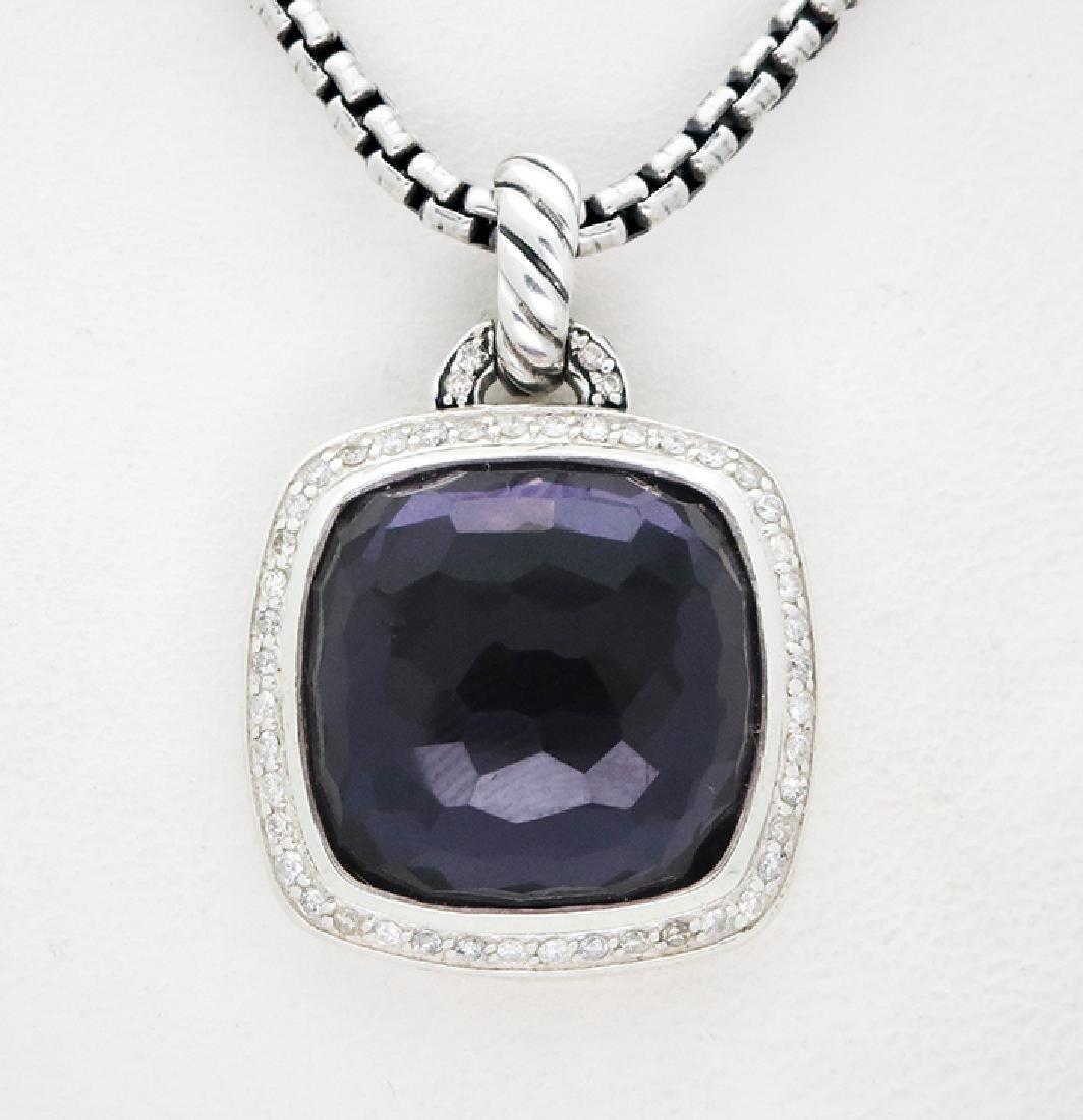 David Yurman Sterling Silver Pendant with Amethyst