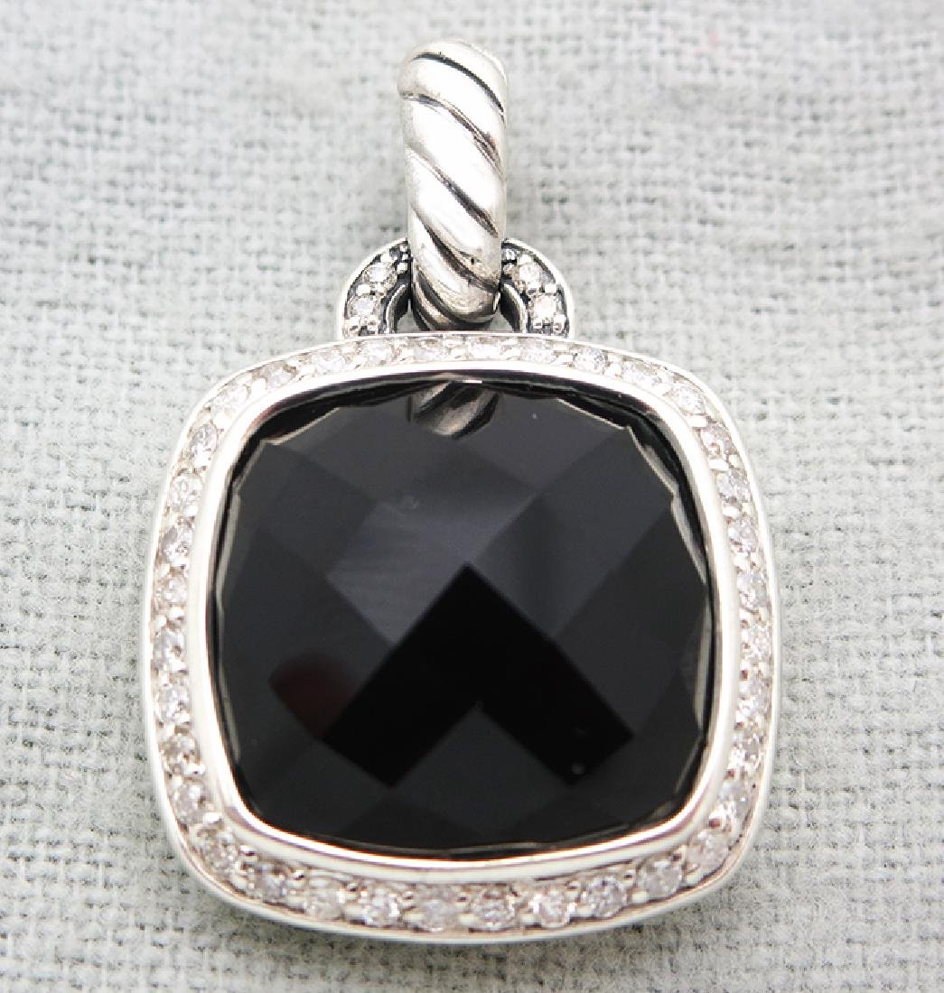 David Yurman Sterling Silver Pendant with Black Onyx