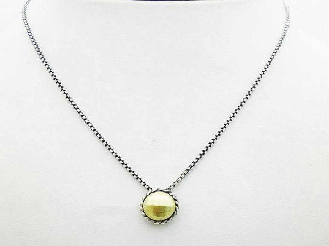David Yurman 925 Silver Chatelaine Necklace 18k Gold