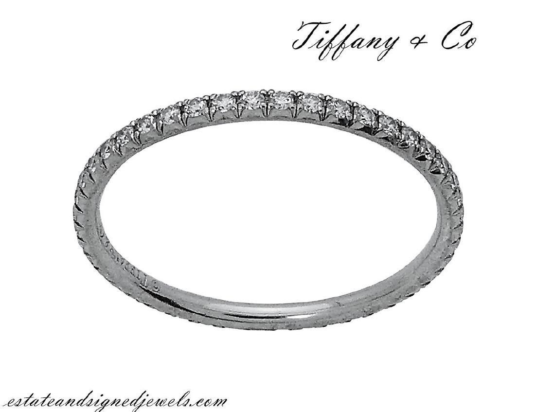 Tiffany & Co Tiffany Metro 18k White Gold Diamond