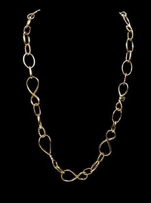 David Yurman 18K Yellow Gold Link Chain Necklace