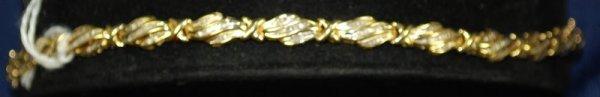 13: LADIES 14KT Y.G. DIAMOND BRACELET 1.50CT