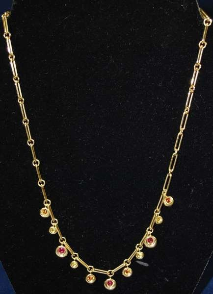6: 18KT Y.G. SIGNED CHAUMET NECKLACE NEW