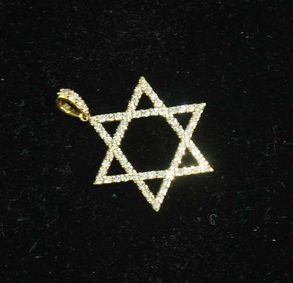 3: 18KT Y.G. DIAMOND STAR PENDANT