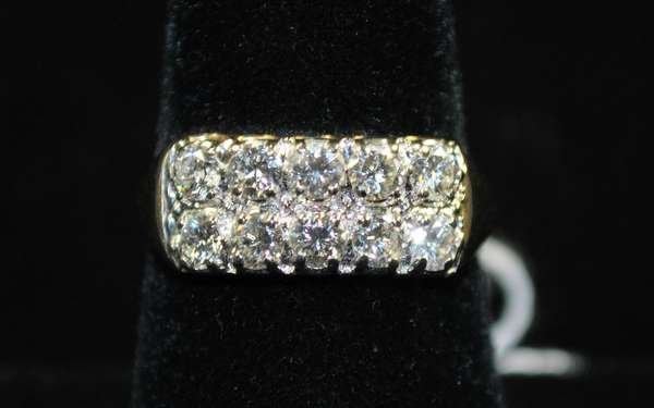 16: 14KT Y.G. 1.00CT DIAMOND RING