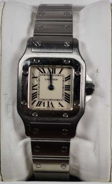 23: LADIES S/S CARTIER SANTOS