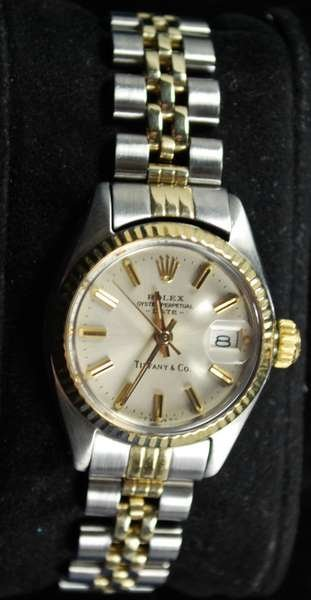 25: LADIES 14/SS ROLEX DATEJUST TIFFANY