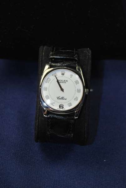 22: MENS 18KT W.G. ROLEX CELLINI