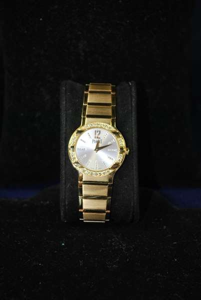 27: LADIES 18KT Y.G. PIAGET POLO DIAMOND DIAL