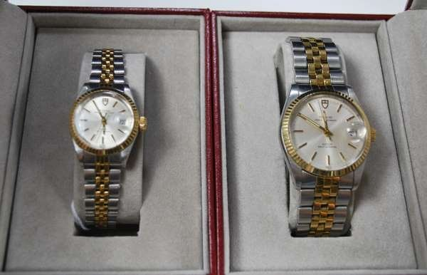 14: MENS AND LADIES 2 TONE ROLEX TUDORS