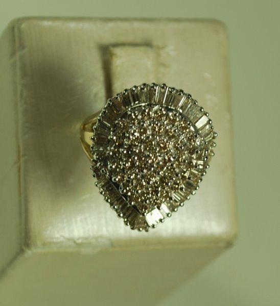 21: 14KT W.G. 2.00CT DIAMOND RING