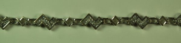 18: 14KT W.G. 2.00CT DIAMOND BRACELET