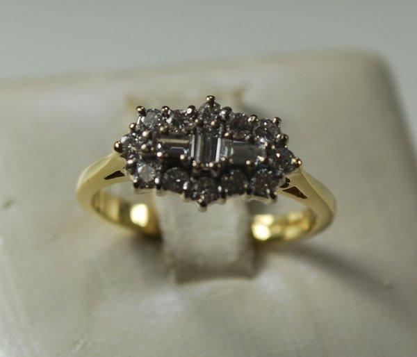 6: 18KT 2TONE ESTATE .50CT DIAMOND RING