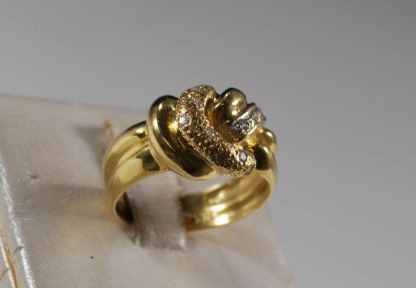 11: 18KT Y.G.  DIAMOND RING .20CT