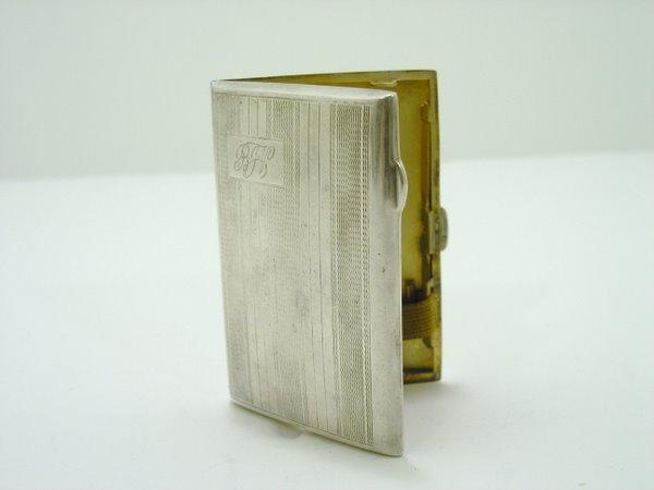 8: STERLING CARD HOLDER