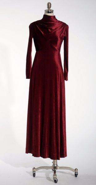 19: VINTAGE 1950'S RED VELVET DRESS