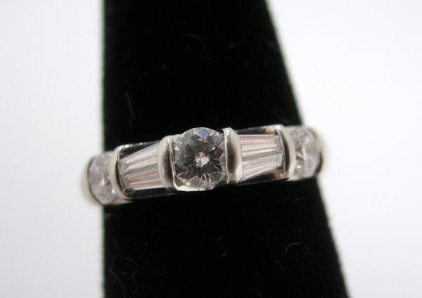 8: PLATINUM 1.00CT DIAMOND BAND SIGNED VERRAGIO
