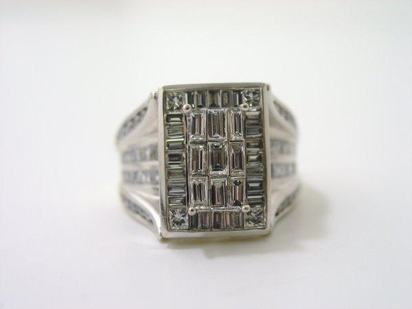 6: 14KT W.G. 3.00CT DIAMOND RING