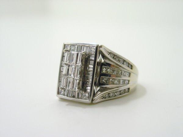 6: 14KT W.G. 3.00CT DIAMOND RING - 3