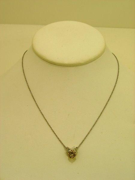 12: LADIES PLATINUM DIAMOND PENDANT 1.00CT