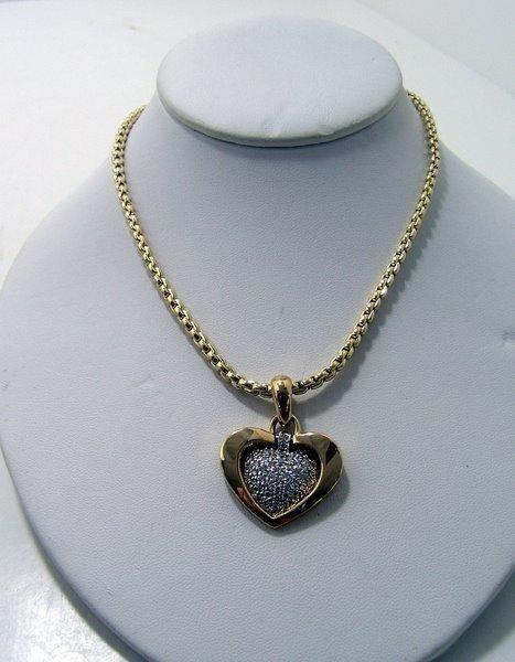 4: 14KT Y.G. 2.00CT DIAMOND HEART