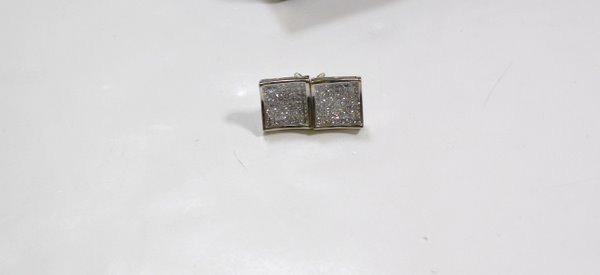 6: 14KT W.G. 3.50CT DIAMOND EARRINGS
