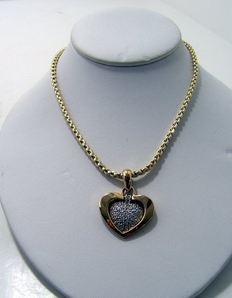 9: 14KT Y.G. 2.00CT DIAMOND HEART