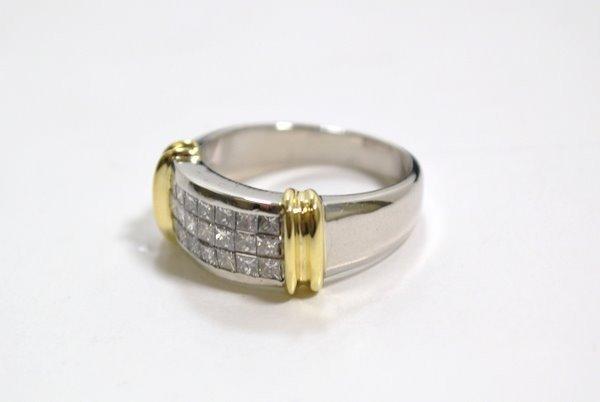 13: PLAT/18KT DIAMOND BAND RING 1.25CT
