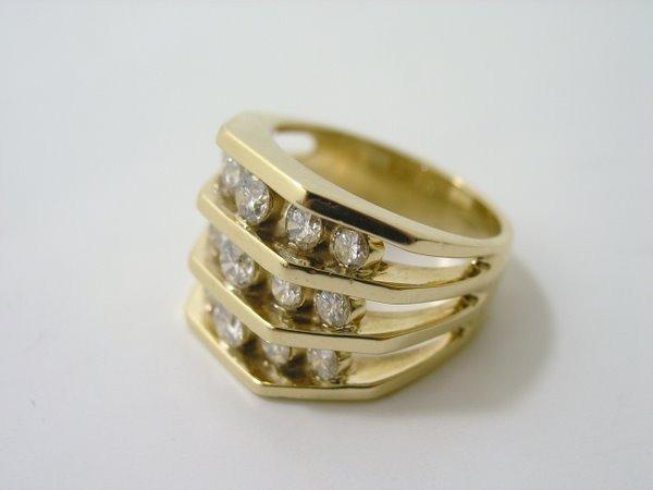 21: LADIES 14KT Y.G. 1.50CT DIAMOND RING