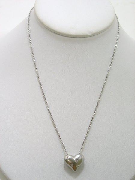 23: PLATINUM TIFFANY & CO. DIAMOND HEART PENDANT
