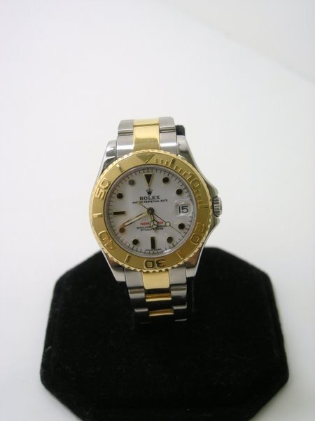 24: 18KT/SS ROLEX YACHTMASTER