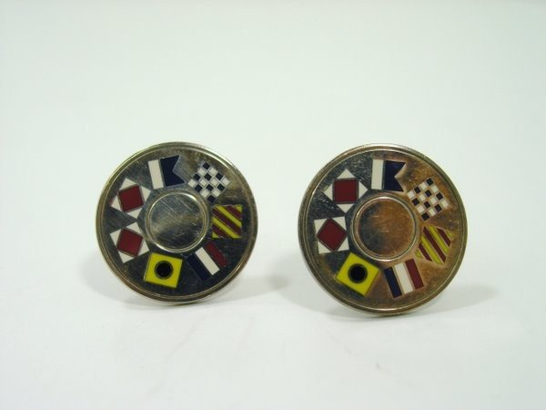 18: TIFFANY STERLING VINTAGE CUFF LINKS