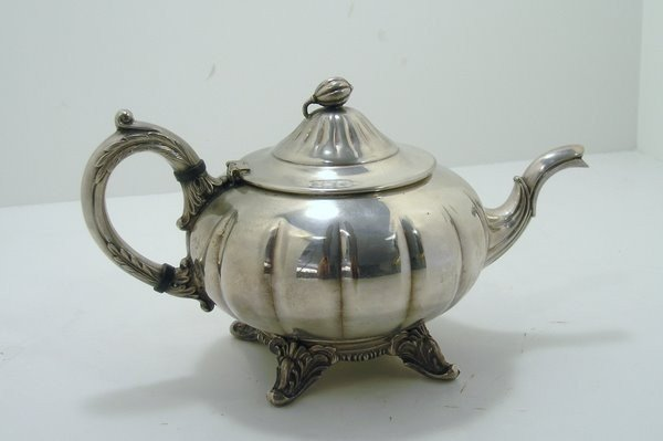 23: SILVER PLATED TEAPOT