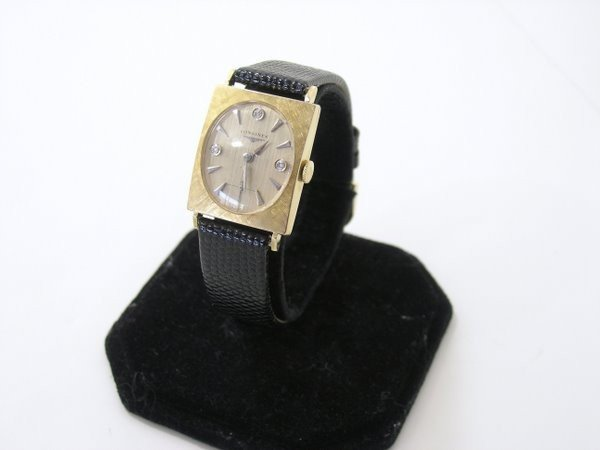 4: 14KT Y.G. LONGINES DIAMOND WATCH