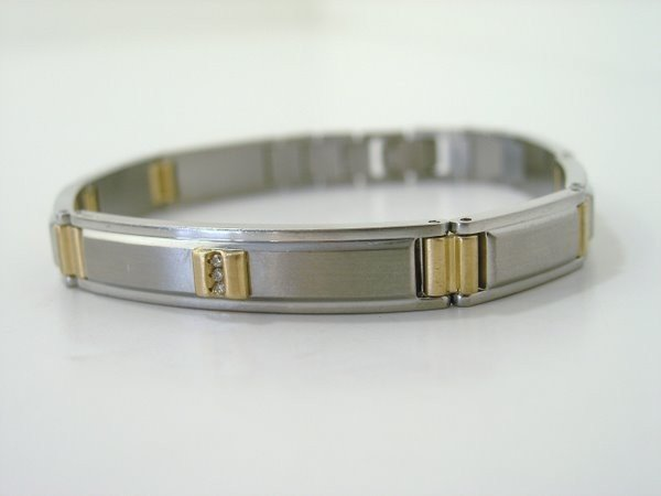 9: MENS S/S 10KT DIAMOND BRACELET