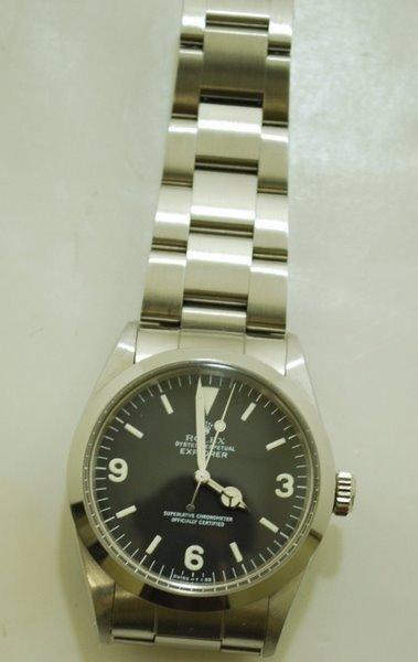 13: MENS S/S ROLEX EXPLORER CIRCA 1987