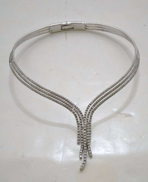 64: 18KT W.G DAMIANI 7.00CT DIAMOND NECKLACE