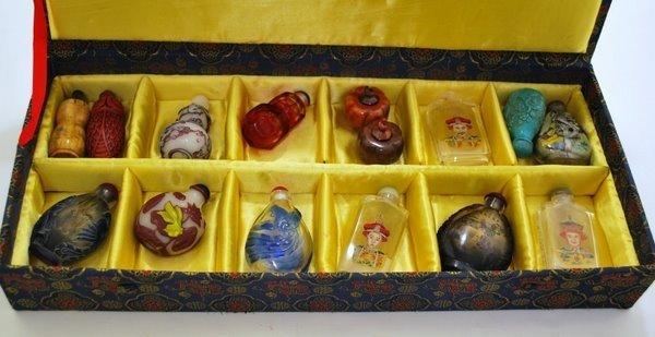 5: BOX OF ORIENTAL PERFUME BOTTLES