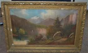 48: HUDSON RIVER SCHOOL OF ART OIL ON CANVAS