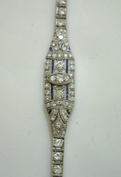 6: PLATINUM ART DECO 5.50CT DIAMOND BRACELET