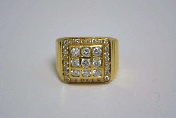 11: MENS 20KT Y.G. 2.75CT DIAMOND RING