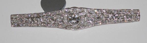 21: PLATINUM ART DECO 4.00CT DIAMOND PIN