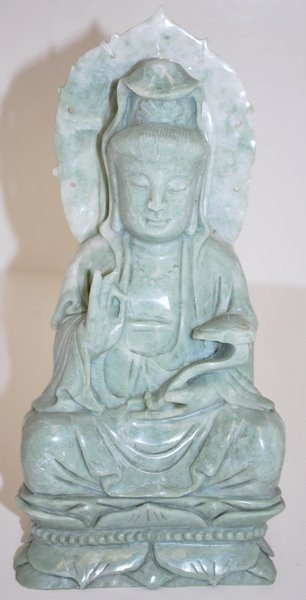 14: JADE CARVING OF A PRIEST IN MEDITATION