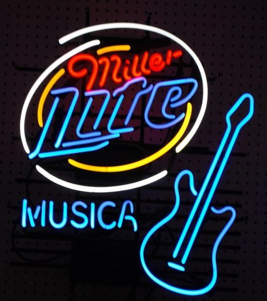 20: NEON BEER SIGN ADVERTISING MILLER LIGHT