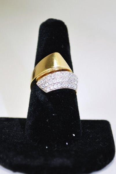 2: 18KT 2 TONE DIAMOND RING .75CT